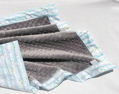 Gender Neutral Baby Blanket  Michael Miller's Aqua by BoCoBaby, $32.00