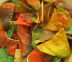 Tie Dyed Tortilla Chips « Appetizers And Snacks «