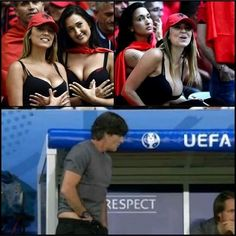 Joachim Loew grzebie w spodniach z powodu pięknych fanek reprezentacji Albanii • Prawdziwa przyczyna zachowania Loewa • Zobacz memy >> #memes #low #football #soccer #sports #pilkanozna