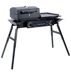 Buy Blackstone Grills Tailgater - Portable Gas Grill Griddle Combo - Barbecue Box - Two Open Burners ? Griddle Top - Adjustable Legs - Camping Stove Great Hunting, Fishing, Tailgating More online - Topgetitnow Portable Grill, Camping Grill, Camping Stove, Bbq Grill, Camping Gear, Camping Kitchen, Campsite, Griddle Grill, Barbecue Pit