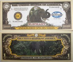 Set of 10 Bills-Elephant Million Dollar Bill by Novelties Wholesale. $0.01. ###############################################################################################################################################################################################################################################################
