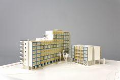 Mecanoo. Model for student housing Kruisplein Rotterdam, ca. 1981. NAI Collection, MAQV 1094