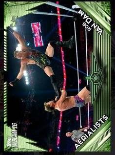 excellent aerialists rob van dam green Check more at http://cheapdigitaltoppscards.com/product/aerialists-rob-van-dam-green/