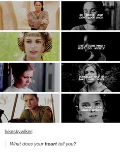 ~ Shmi ~ Padmé ~ Leia ~ Rey ~ Strong Woman who are not all the same character. You can be strong in many different ways.