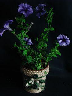 Pomysły plastyczne dla każdego, DiY - Joanna Wajdenfeld: Osłonki na doniczki ze sznurka i linki