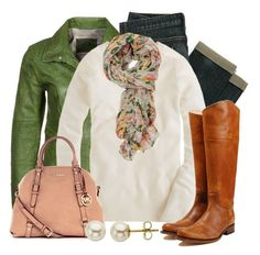 Floral Fantasy by qtpiekelso on Polyvore featuring J.Crew, Milestone, MICHAEL Michael Kors, Lord & Taylor and Forever 21