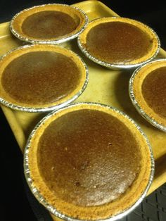 Pumpkin chocolate pie.  I made the whole pie but had filling left over. I Used the pre-made Keebler graham cracker mini crusts for the rest