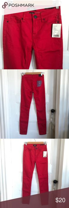 Rad red skinny BDGs Never worn.. I don't know why! When I dug these out yesterday I was so bummed that I had forgotten about them and now they don't fit the same way!  My bum has gotten a little extra 🍑 and now looks smooshed when I tried them on.  Sadness.  Twig  Midrise  Ankle (or normal length if you're a shorty like me!) ♥️PS- These are the best red eva♥️My pics are true color- stock UO photo makes em look orangey.. no.  Red!! 😍 Urban Outfitters Jeans