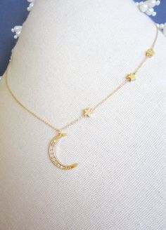 Hey, I found this really awesome Etsy listing at https://www.etsy.com/listing/130616805/moon-star-necklace-3-star-necklace