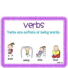 Based on Common Core Standards! All about Verbs Unit!  This unit addresses several Common Core Language Arts standards from grade 1-3. This pa...