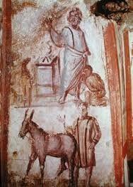 El sacrificio de Abrahán catacumba via latina