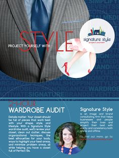 Poster design for Signature Style.  www.natalieweakly.com