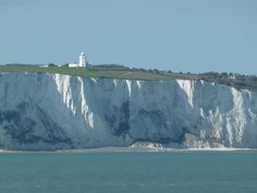 White cliffs of Dover at Kent County, England. It faces Continental Europe across the narrowest part of the English Channel.