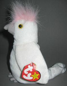 Ty Beanie Baby Babies Ku Ku Kuku the White Cockatiel Bird Plush Stuffed Animal