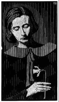 M. C. Escher - Woodcut