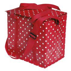 dotcomgiftshop Red Retro Spot Picnic Bag | eBay UK