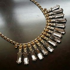 5x$40 Stunning statement necklace gold & crystals Brand new with tags  MSRP $29.99 plus tax  Line Capsule by Cara New York   Really stunning! Gorgeous,  elegant colors and design!   I ship same day of purchase if paid before 4pm central time  Buy with confidence,  5 stars ratings! Cara Jewelry Necklaces