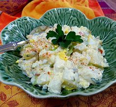 Fried Chicken and Potato Salad with Sweet and Sour Dressing   Wives with Knives