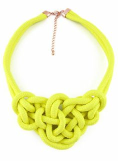 Yellow Twine Elastic Necklace//