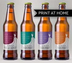 Be My Bridesmaid Beer Label, Ask Bridesmaid Beer Label, Be My Maid of Honor Beer Label, Funny Bridesmaid Beer Label, Beer Labels for Her Asking Bridesmaids, Be My Bridesmaid, Wedding Proposals, Proposal Ideas, Beer Labels, Maid Of Honor, Beer Bottle, Special Day, Wedding Gifts