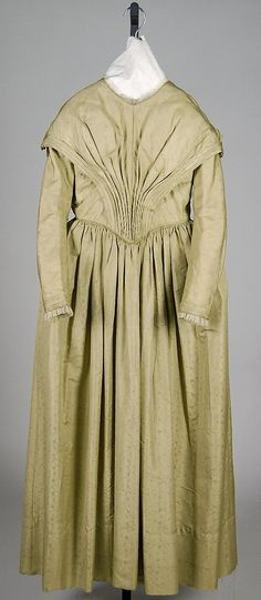 Dress, 1845, silk, American. Met