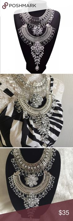 """Turkish Silver Statement Necklace Turkish Silver Statement Necklace. 14"""" in length. Amazing necklace to wear for many different occasions. Jewelry Necklaces"""