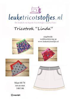 Pattern Skirt Linda girls 68 / 74-140 / 146 All Sizes