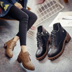 "Black/khaki students boot SE9340   Coupon code ""cutekawaii"" for 10% off"
