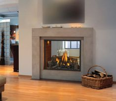 See through Fireplace | HD81 See Thru Napoleon Gas Fireplace