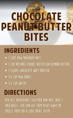Chocolate Peanut Butter Bites by Danette May