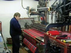Isn't it wonderful that there are still tartan weavers in Scotland?
