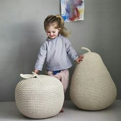 Пуфы для детской. #трикотажнаялента #трикотажнаяпряжа #трикотажнаяпряжа_provans #вязание #knit #knitting #вяжутнетолькобабушки #модноевязание #уютвдоме #пуф