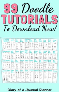 Buy the Happy Doodle Club big bundle for over 99 easy-to-follow bullet journal doodle tutorials so you can become a doodling pro! #doodles #howtodraw #Bulletjournaldoodles #doodlestutorial #learntodraw Happy Doodles, Bujo Doodles, Simple Doodles, Bullet Journal Printables, Bullet Journal Art, Bullet Journals, Birthday Doodle, Space Doodles, Easy Doodle Art