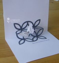If you score SU's lattice die-cut in 3 sections you can make a simple pop-up inside your card!