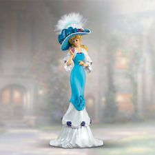 Thomas Kinkade Lady Figurines | ... pause lady figurine bradford the proud promenade thomas kinkade
