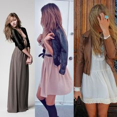 Leather with Soft Dresses