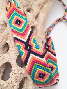 Evil eye friendship bracelet in bright colors by BrightVillage