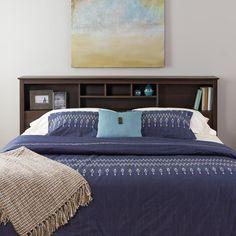 ($164.97) Everett Espresso King Bookcase Headboard - Overstock Shopping - Big Discounts on Headboards