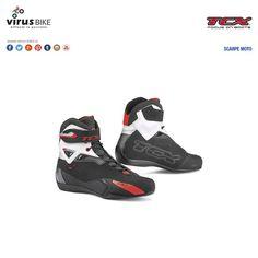 "Scarpe moto TCX ""Rush"" nero/bianco"