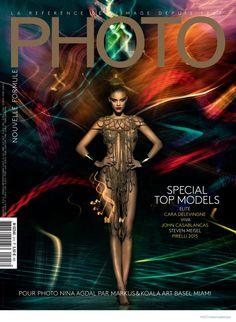 Nina Agdal Shines in Metallics for PHOTO Magazine by Markus&Koala