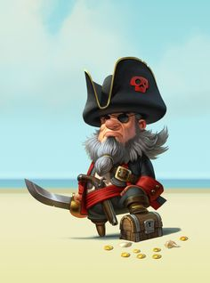"""Pirates of the High Fees"" Campaign for WorldFirst Bank Game Character Design, Character Creation, Character Concept, Character Art, Pirate Art, Pirate Life, Pirate Crafts, Pirate Ships, Cartoon Drawings"
