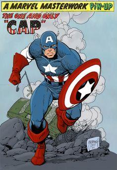 2011 Captain America pin-up art