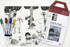 Mark-mat : Day at the Pond + 4 Markers