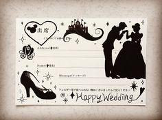 プロポーズでガラスの靴をもらったらしいお友達にはシンデレラで次の結婚式もすっごく楽しみ☺️ #招待状アート  #招待状返信アート  #シンデレラ  #ガラスの靴