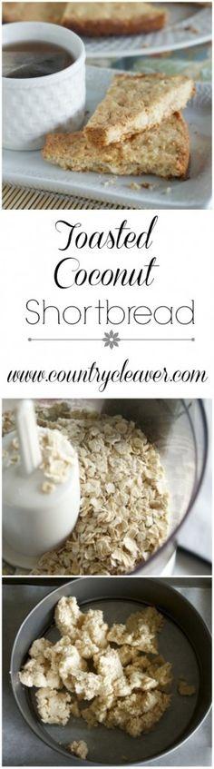Coconut Shortbread - Country Cleaver