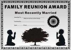 Family Reunion Certificates - Kids at Prayer 20 is a Free Family Reunion Award by The Family Reunion Hut™