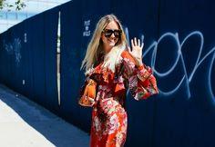 Gucci dress and Karen Walker Eyewear