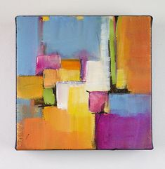 Original abstract acrylic painting on canvas colorful and