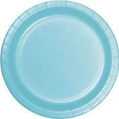 "Amazon.com: Custom & Unique {10"" Inch} 24 Count Multi-Pack Set of Medium Size Round Circle Disposable Paper Plates w/ Classic Frozen Wonderland Seasonal Christmas Decor ""Pastel Blue Colored"": Kitchen & Dining"