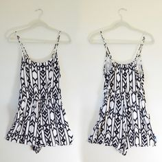 Black and White Print Romper Good condition. Black and white print romper. Forever 21 Pants Jumpsuits & Rompers